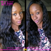 Best selling Maslaysian virgin hair deep wave lace front wig for african american