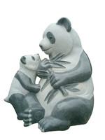 Life-size Outdoor Ornament Granite Stone Panda Sculpture
