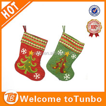 Yiwu factory custom size fannel stocking christmas tree ornament