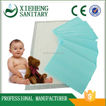 blue soft breathable non-woven fabric super absorbent disposable baby hygiene underpad for bed care