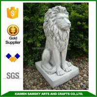 garden outdoor stone lions statues