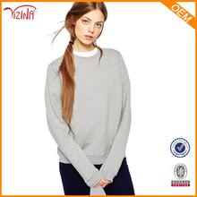 Custom pullover plain women hoodies/crewneck sweatshirt