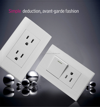 Double American electric wall socket outlet for south american and north America with CE approval