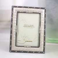 Rectangular Metal Picture Photo Frame| Logo Customized Special Photo Frame| 4*6 Size Pearl Decorative Photo Frame