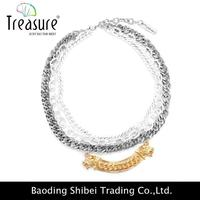 2015 Hottest Fashione Jewelry rhinestone angel wing necklace