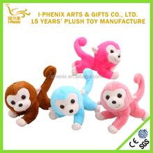 Colorful monkey toy smiling long tail monkey stuffed plush monkey