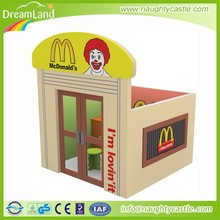 Guangzhou Mcdonals wooden doll house furniture / wooden toy doll house