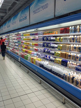china supermarket display air curtain for beverage and milk