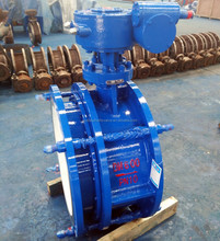 Triple eccentric low pressure DN600 expansion butterfly valve