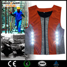 2015 NEW DESIGN LED FLASHING workwear overalls china MADE OF COTTON
