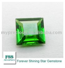 Brilliant Cut Square Shape Chrome Diopside (FSSCDSQ0808)