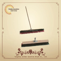 24 inches wooden floor brush with long wooden handle broom brush hand broom