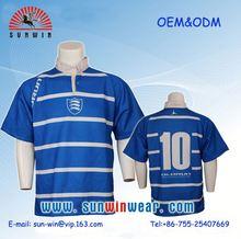 diseño personalizado añadir el nombre y número de rugby de promoción uniforme