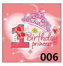 one year birthday princess party plate