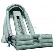 dry slide/inflatable slide/Inflatable Dry Slide 27'Mount Rushmore Dual Lane Slide