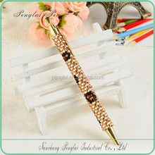 Top quality New Design Promotional Rectractable Metallic Pens with Rhinestones