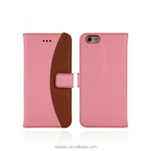 Flip cover leather case compatible with all brands smartphone for apple iPhone with button close