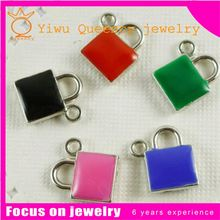 C881 Cheaper baby shoes pink enamel Charm and Pendant For Fashion Jewelry