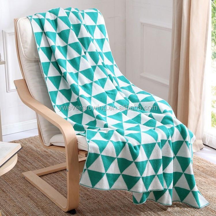pleine taille pas cher prix mode jacquard couverture nervure tricot plaid jeter tapis et. Black Bedroom Furniture Sets. Home Design Ideas