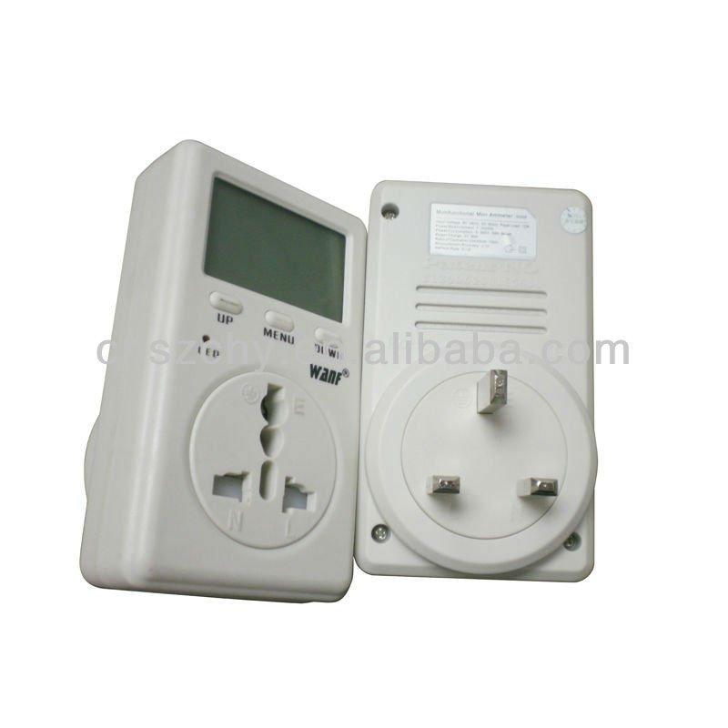 Plug In Watt Hour Meter : Single phase meter watt hour v uk socket hot