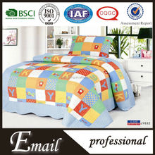 Cheap quilt kids cartoon bedding set /patchwork bedcover for Children made in China