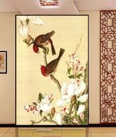 Modern fashion flower and birds wallpaper murals nature wall wallpaper for house customize