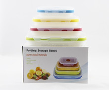 heat resistant colorful food grade silicone lunch box for salad