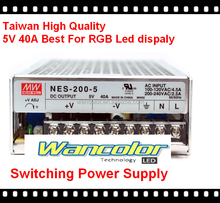 taiwan Meanwell brand UL listed LED display power supply high quality 5v 40A LED display Switching power supply