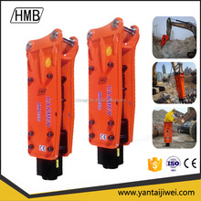 Top Type Hydraulic Hammer Breaker with Chisel Dia of 100mm