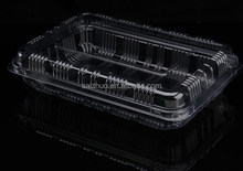 export rectangular transparent disposable sushi to go box