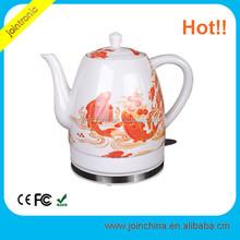 1.7 L Red Rose ceramic electric kettle beautiful design porcelain electric kettle