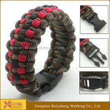 550 paracord bracelet with plastic buckles wholesale
