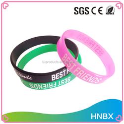 wholesale custom bulk cheap printing logo silicone wristbands/rubber band