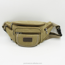 High quality a series of simple waist pack,casual canvas waist bag for man,sport waist pack
