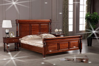 Chinese bedroom / room furniture wooden bed models with modern style
