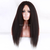 8A top quality 100% 30 inch human hair wig kinky straight full lace wigs