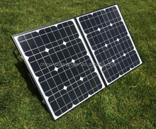 High efficiency foldable solar panel with frame and brackets