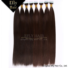 Easy to wear, virgin brazilian straight hair extensions tape hair extension