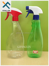 650ml PET plastic detergent bottle with trigger sprayer