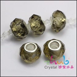 8*14mm New Style 925 Sterling Silver Cored Crystal Beads