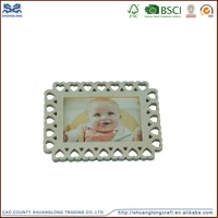 Cute baby photo frame heart shape, environmental bulk mini photo frames