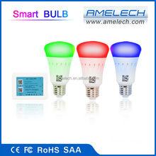 New 7W Dimmable Color Changing E26 E27 E14 GU10 RGBw LED ZigBee Light Bulb