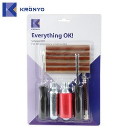 KRONYO bike bag stainless steel cylinder Co2 tyre repair equipment
