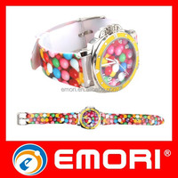 China Supply Watch Hot Sales Beautiful Colorful Transparent Plastic Watch