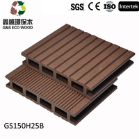 2016 Hot sales with cheap price Synthetic deck wood / wood plastic composite decking floor