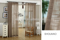 Good quality elegant burlap jute window curtains