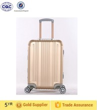 travel luggage aluminum trolley case
