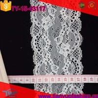 venice floral cording desiger decoration garments white scalloped lace trim