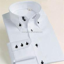brand buttons down collar shirt white combed cotton dongguan shirt supplier