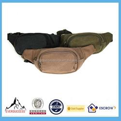 Men'S Canvas Military Waist Belt Bag Sport Shoulder Sling Pack Hip Wallet